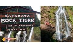¡Increíble! Catarata Boca de Tigre y sus 10 cascadas para relajarse, Perené, Chanchamayo