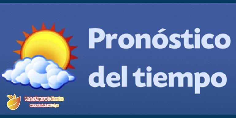 Pronóstico del tiempo en la Selva Central  como Chanchamayo, Satipo, Oxapampa y otros lugares como Tarma, Jauja, Huancayo y Lima