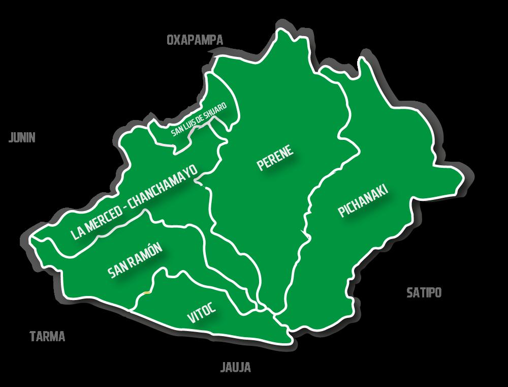 mapa chanchamayo