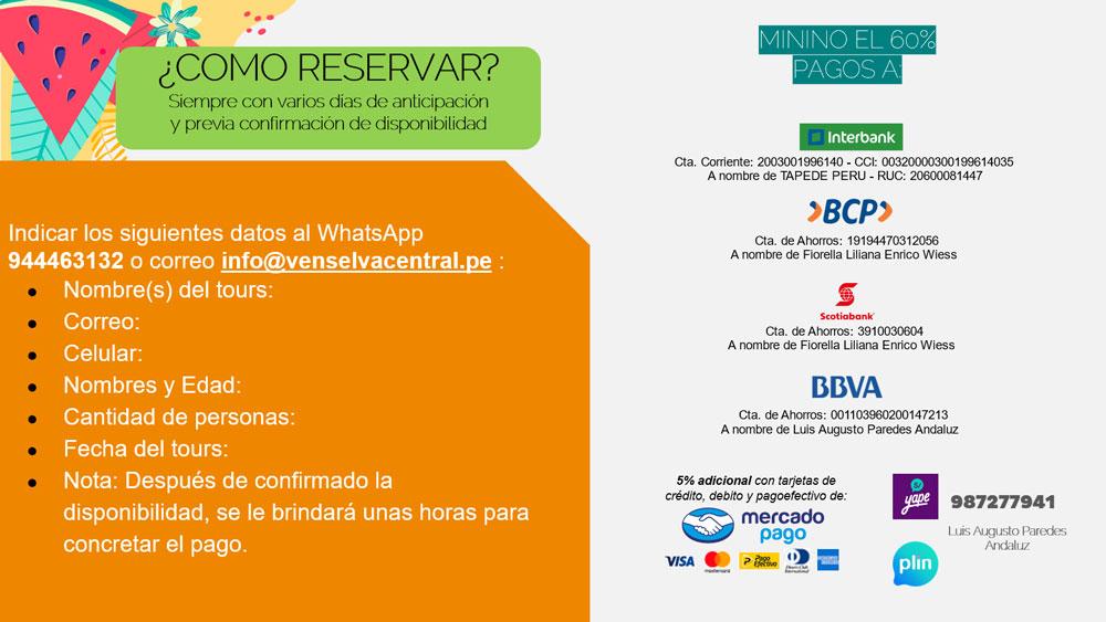 ahora reserva por  Whatsapp